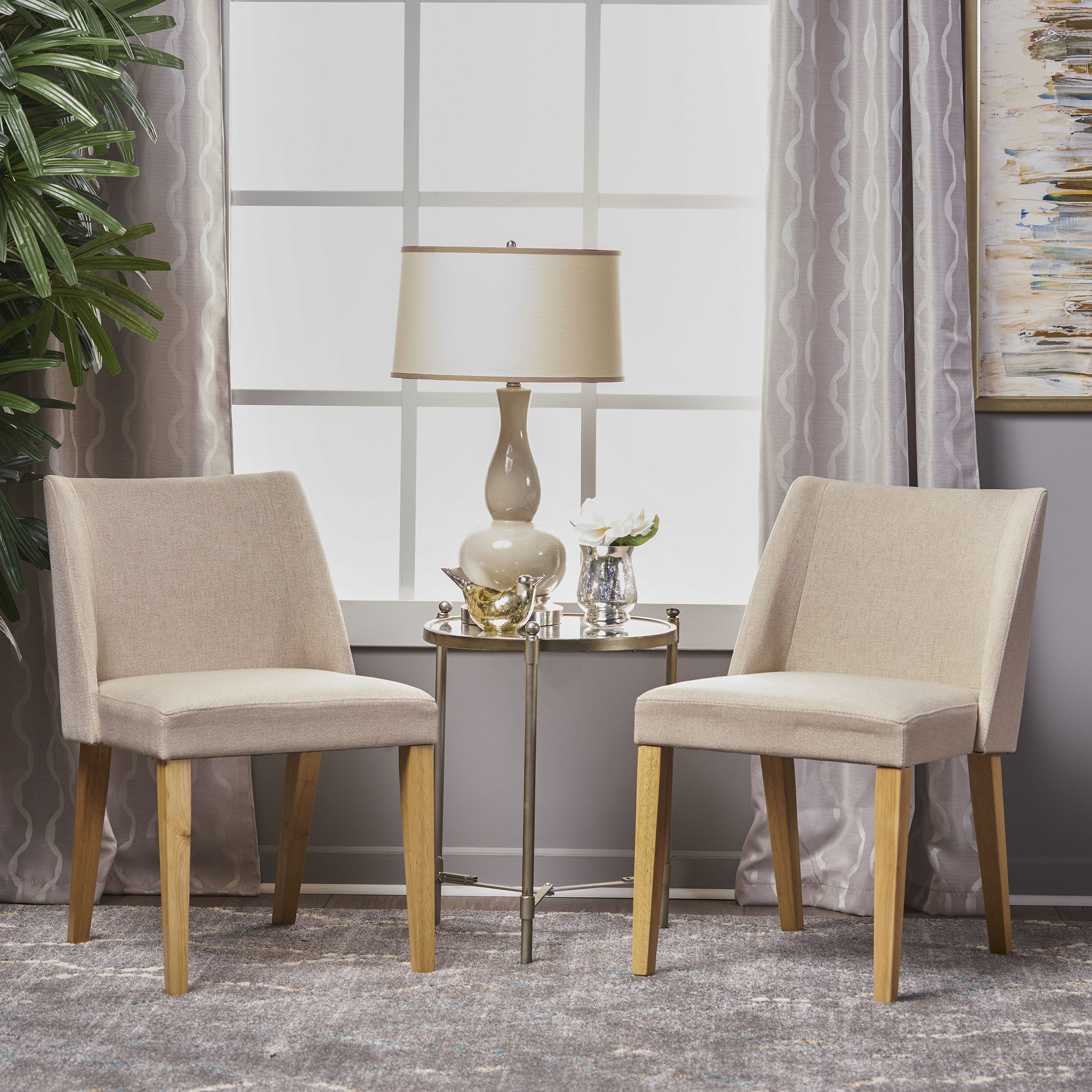 Radcliffe Fabric Side Chairs (Set of 2) (Wheat)