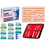 Suture Practice Kit (30 Pieces) for Medical Student Suture Training, Include Upgrade Suture Pad with 14 Pre-Cut Wounds…