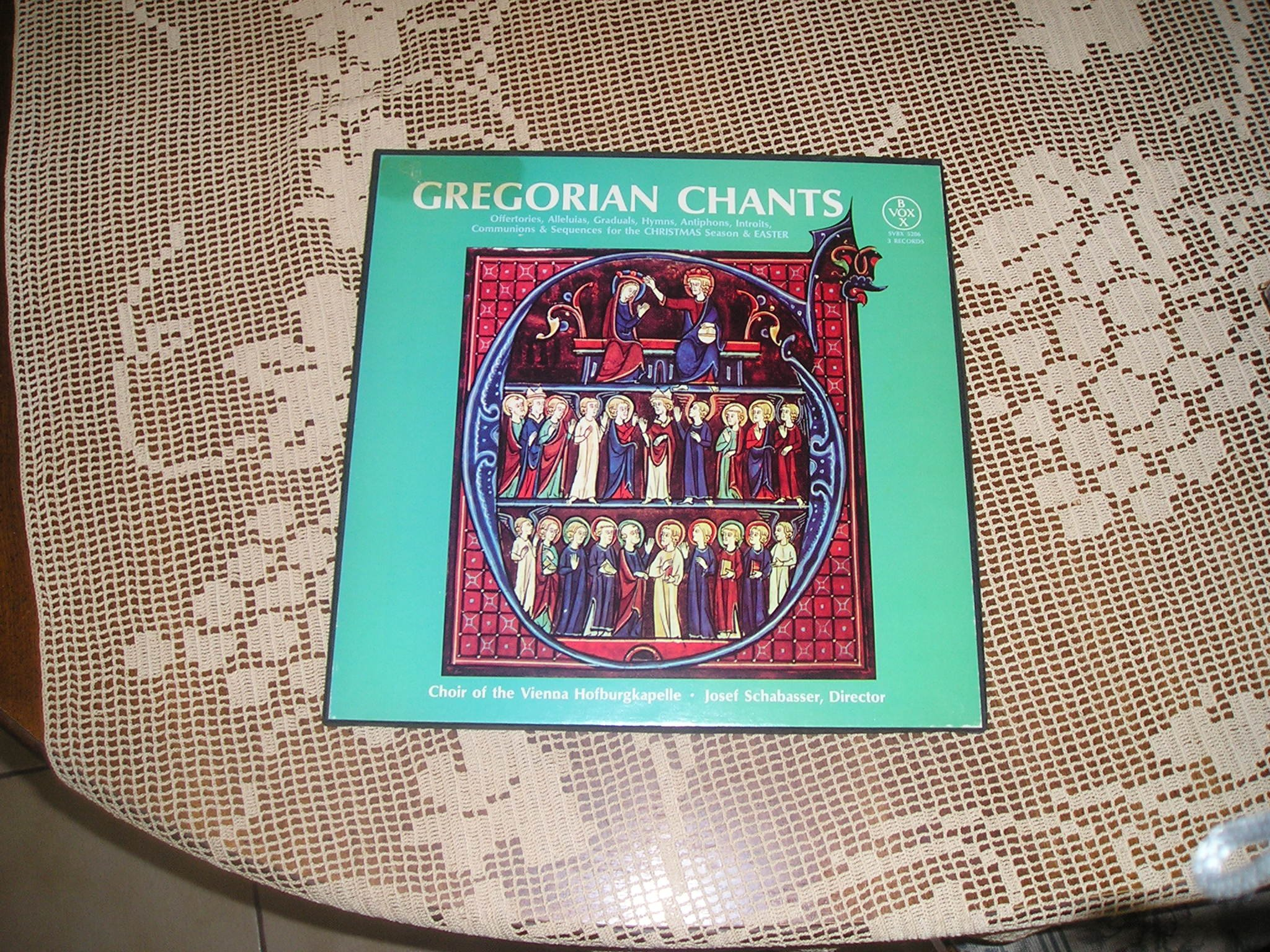 Gregorian Chants: Offertories, Alleluias, Graduals, Hymns, Antiphons, Introits, Communions & Sequences for the Christmas Season and Easter (3 LP) by Vox Box