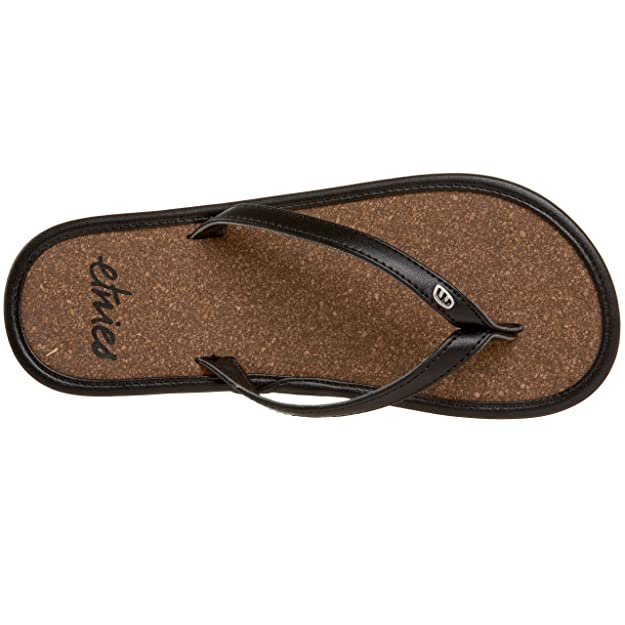 091fc6f14 Etnies Flats Cork Ladies Flip Flops In Black Raw (Euro 36)  Amazon.co.uk   Shoes   Bags