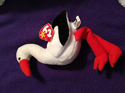 4c01b28937e Image Unavailable. Image not available for. Color  Ty Stilts Beanie Baby  Bird Stork with Rare ...