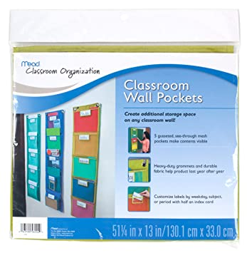mead classroom wall pockets green