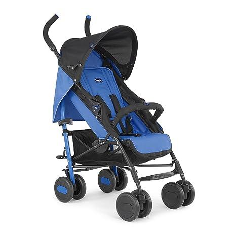 Chicco Echo - Silla de paseo, ligera y compacta, colección 2017, color azul, 7,6 kg