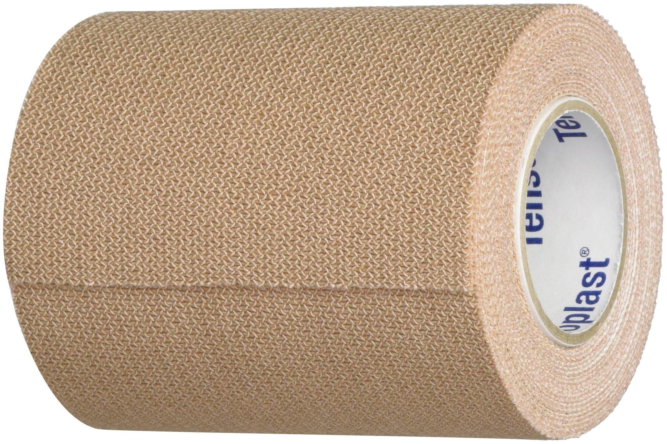 Tensoplast Elastic Athletic Tape, 3'' x 5 Yards, Tan Pack of 4 by BSN Medical