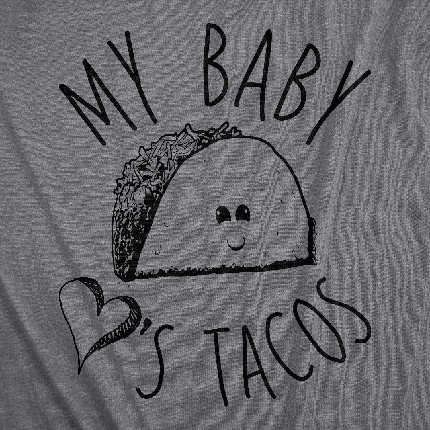 Maternity My Baby Loves Tacos Funny T Shirts Cute Announce Pregnancy Im Pregnant Bump T Shirt (Heather Purple) -S by Crazy Dog T-Shirts (Image #2)