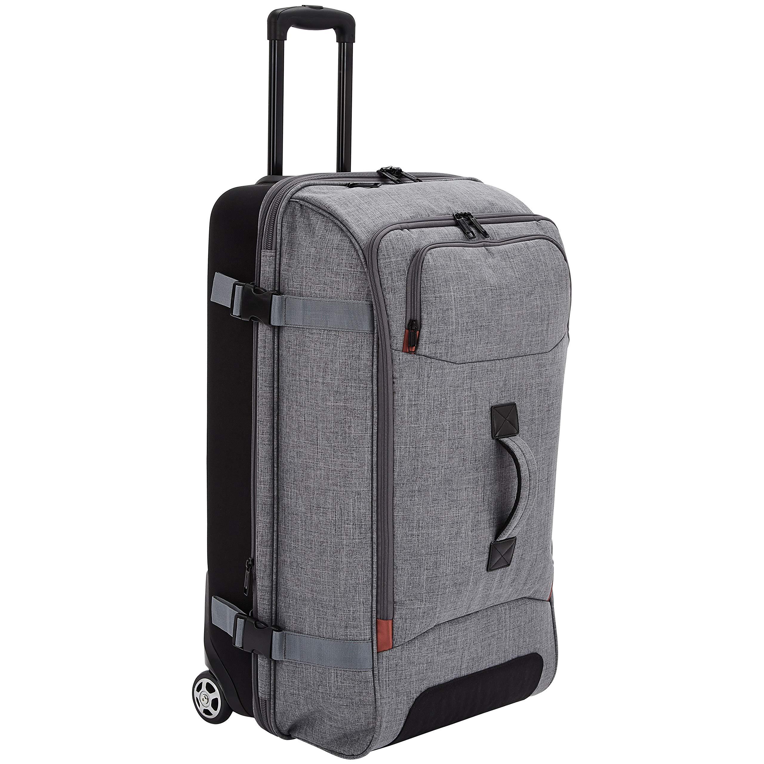 AmazonBasics Rolling Travel Duffel Bag Luggage with Wheels, Large, Grey by AmazonBasics