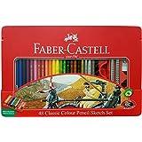 Faber Castell Premium Color Pencils, Tin box 48 color sketch set