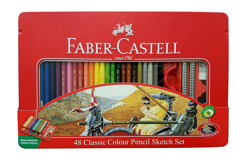 Faber-Castell Classic Colour Pencils disponibile in 12a 48colori Tin box 48 color sketch set