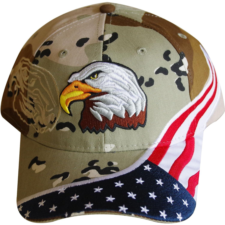 /bestickt American Flagge /& Adler Baseball Cap mit 100.000/Stickerei Stiche USA Flagge hat/
