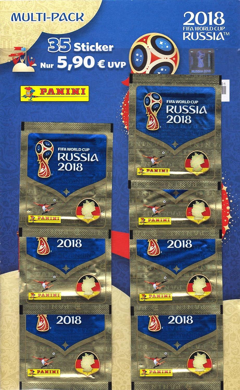 Panini 005903 FIFA World Cup Russia 2018 de colección Sticker Multi Pack, 7 Booster: Amazon.es: Juguetes y juegos
