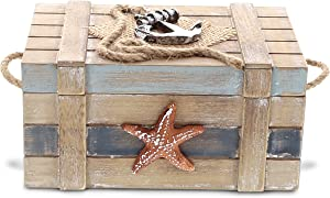 CoTa Global Neptune Jewelry Box - 6 x 4 x 3 inch - Nautical Decor - Item #9004