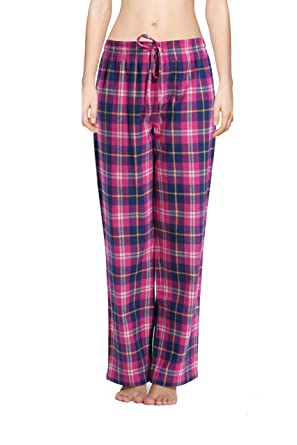 fa8e10c3c04 CYZ Women s 100% Cotton Super Soft Flannel Plaid Pajama Lounge Pants at  Amazon Women s Clothing store