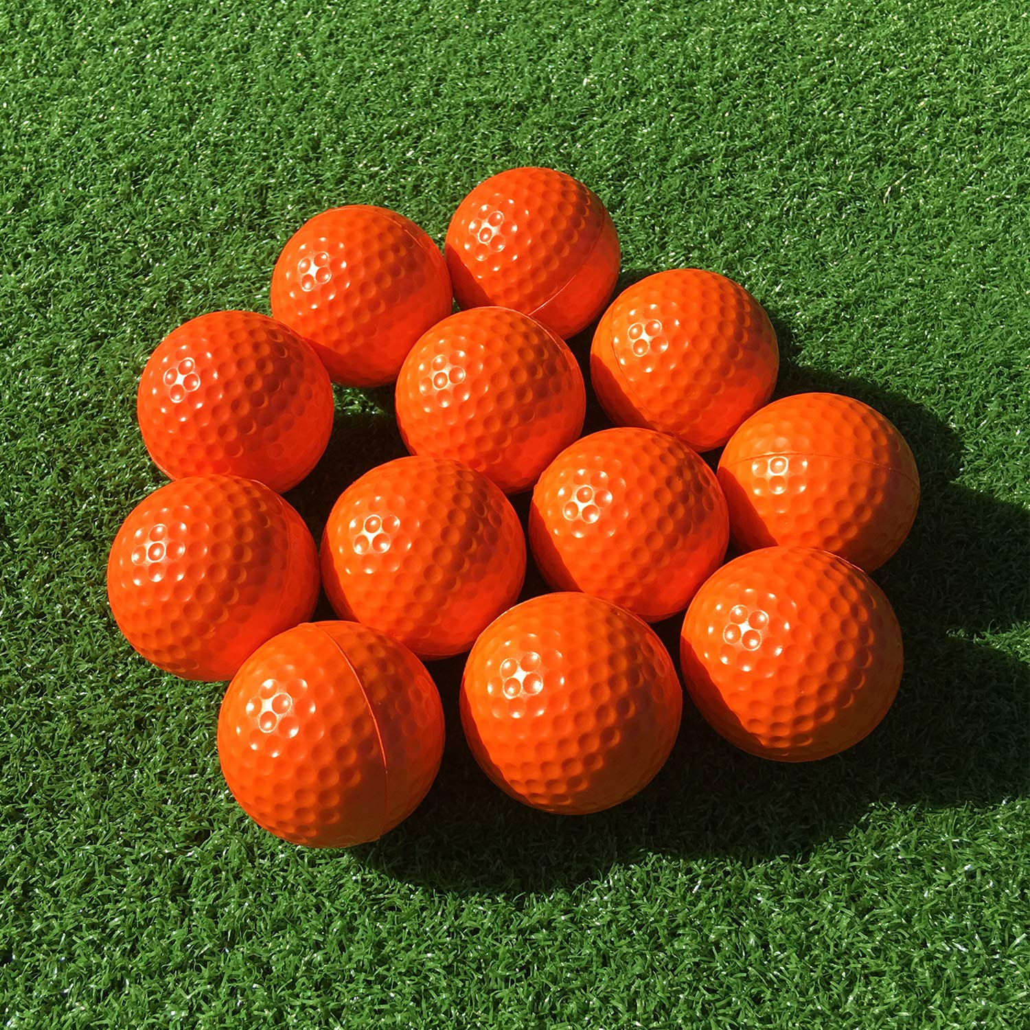 SkyLife Golf Practice Balls 12 Count, Soft Golf Foam Balls for Indoor Outdoor Backyard Training (Orange 12pcs) by SkyLife