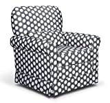 Storkcraft Polka Dot Upholstered Swivel