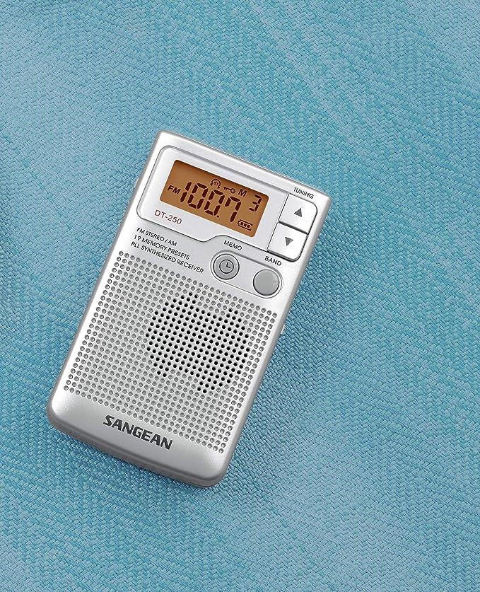 Sangean DT-250 - Radio, plateado