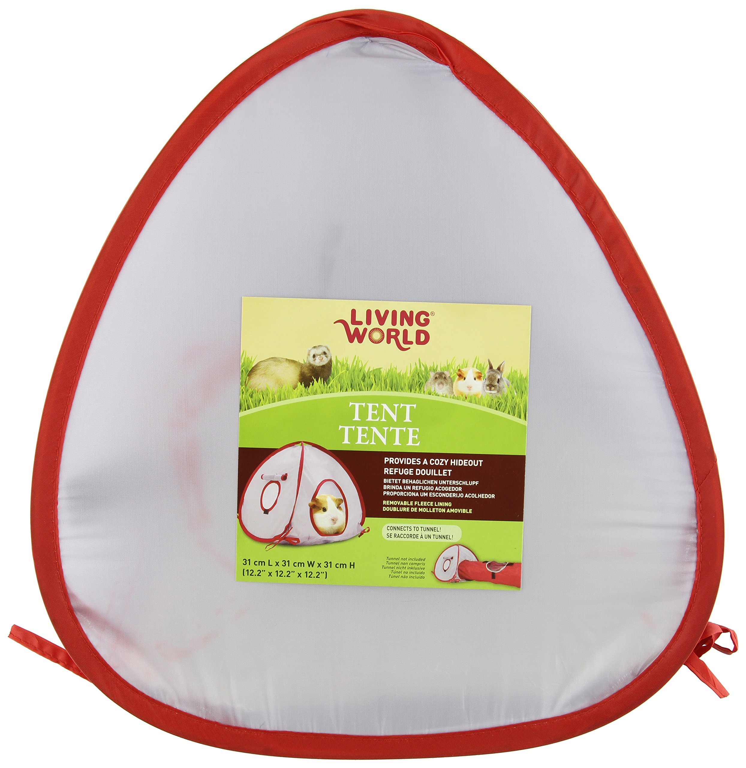 Living World Tent for Pets, Grey/Red