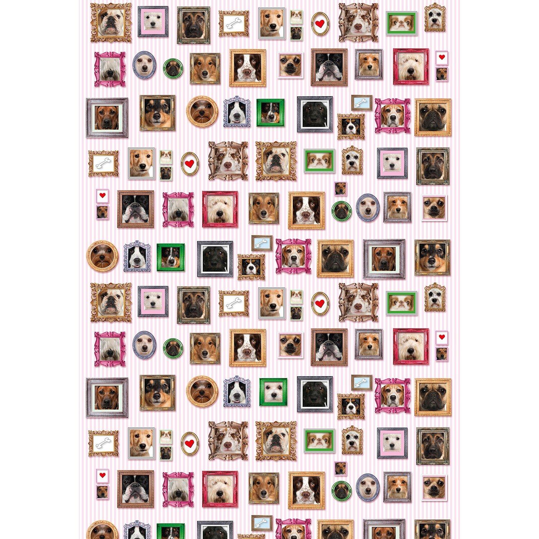 3 B/ögen Hunde Geschenkpapier Dog Portrait Geschenkpapier