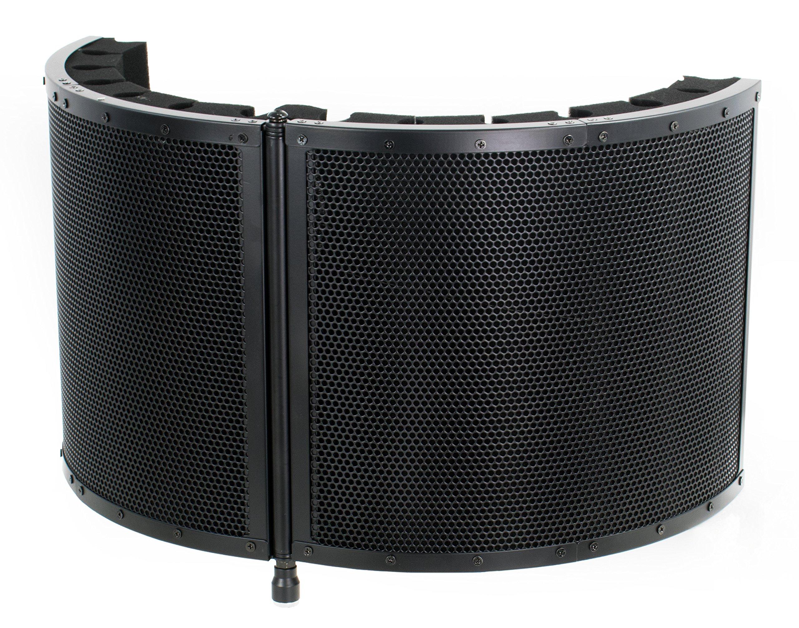 VIVO Black Universal Mini Portable Vocal Recording Booth Audio Isolation Noise Foam Sound Folding Panel Shield (VB-01)