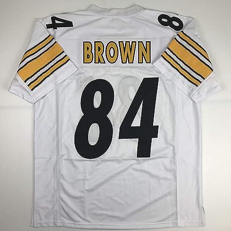 buy popular 4695b fbc7e Amazon.com: Unsigned Antonio Brown Pittsburgh White Custom ...