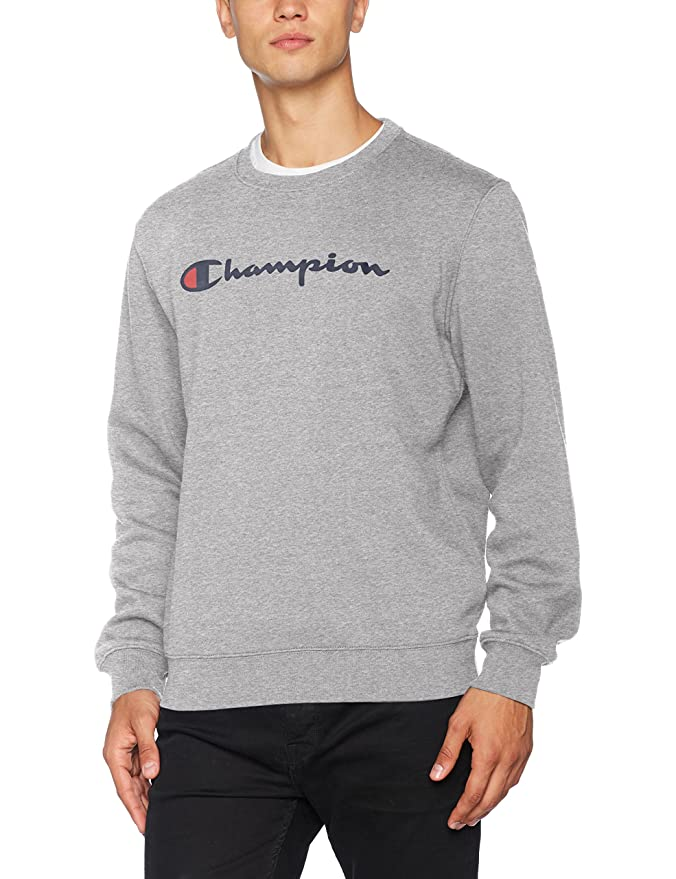 Hooded Sweatshirt-Institutionals, Sudadera con Capucha para Hombre, Gris (Oxgm), XX-Large Champion
