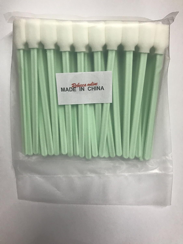 100pcs 5.1 Square Rectangle Foam Cleaning Swab Sticks for Solvent Format Inkjet Printer Roland Optical Equipment