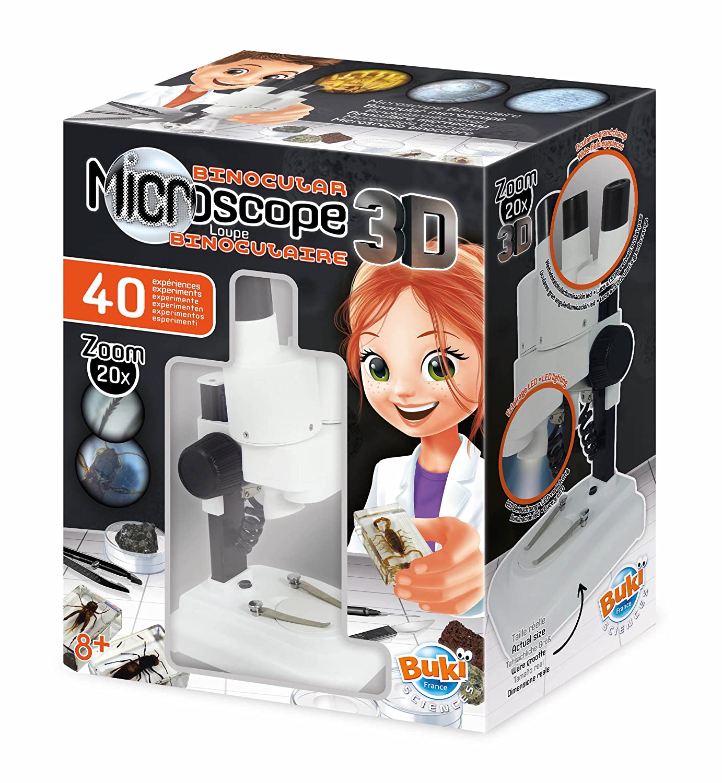 Microscopio para niños Binocular 3D