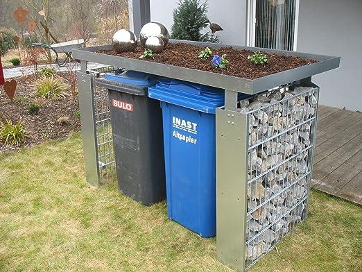 Decoración para contenedores contenedor contenedor metal: Amazon.es: Jardín
