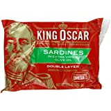 King Oscar Sardines Extra Virgin Olive Oil, 3.75-Ounce Cans (Pack of 12)