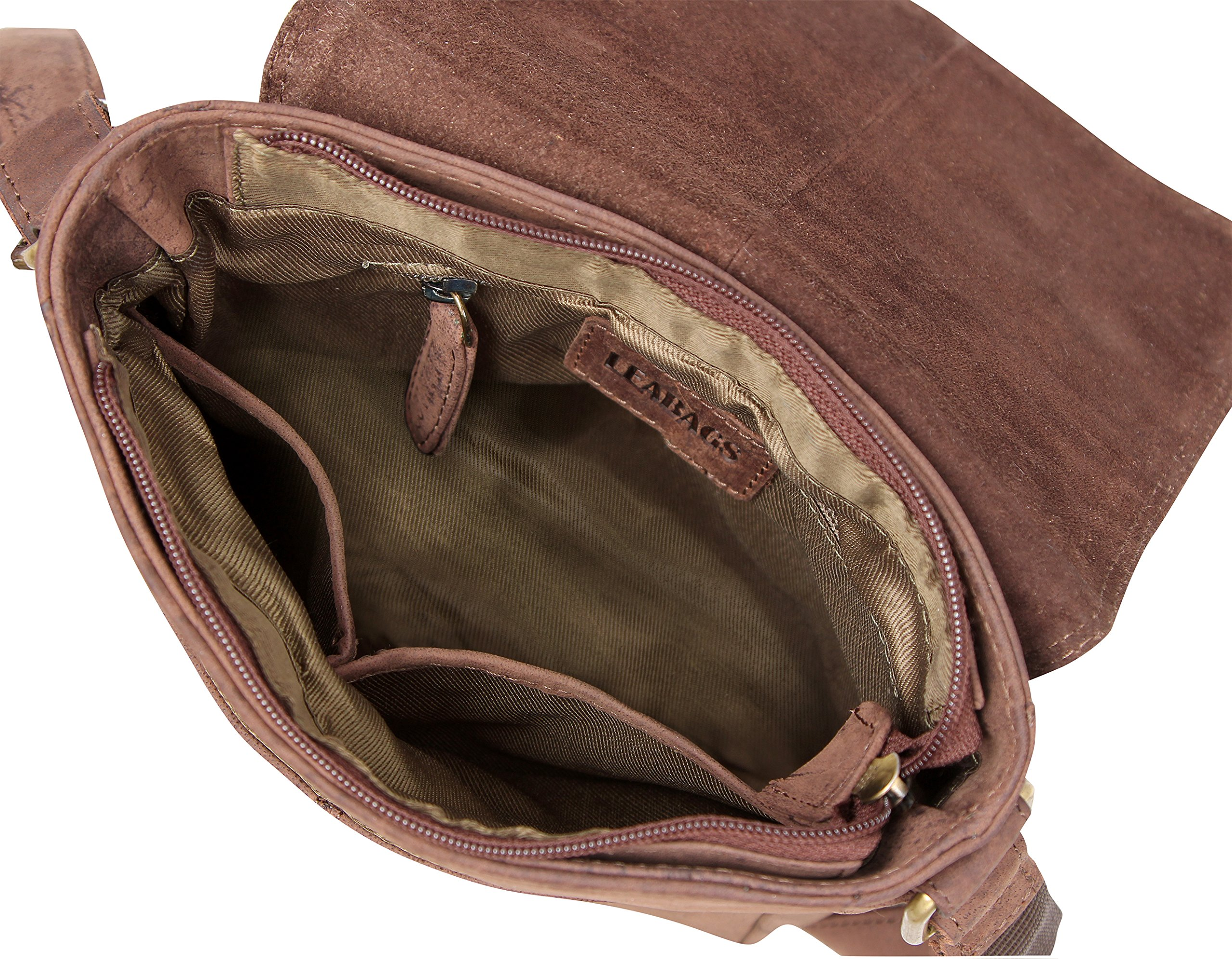 LEABAGS Weston genuine buffalo leather city bag in vintage style - Nutmeg by LEABAGS (Image #7)