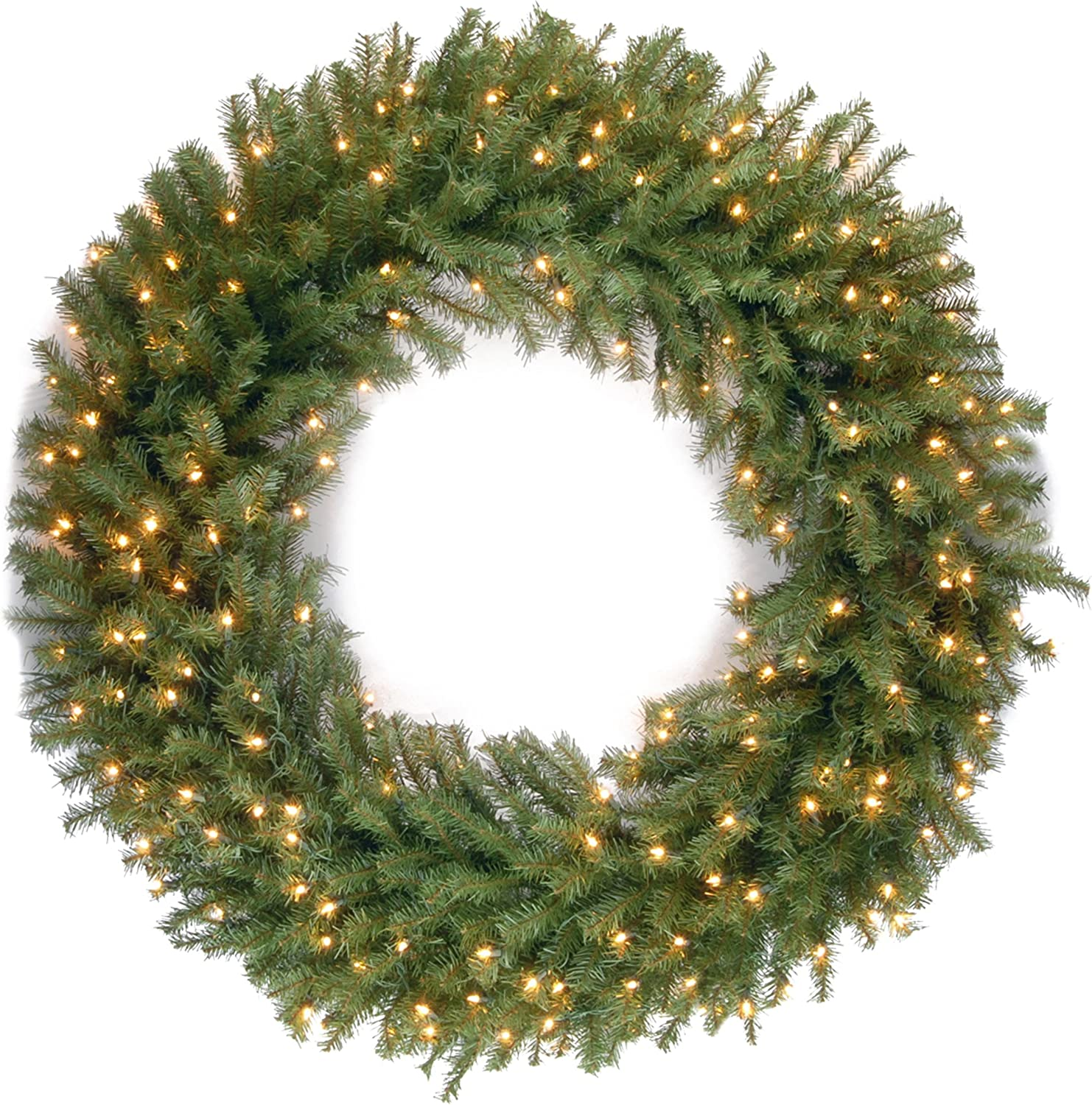 National Tree 48 Inch Norwood Fir Wreath With 300 Warm White Led Lights Nf 318l 48w 48 In Home Kitchen
