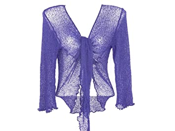 4270056473 Bolero con maniche lunghe, scaldacuore, per donna, colore: blu ...