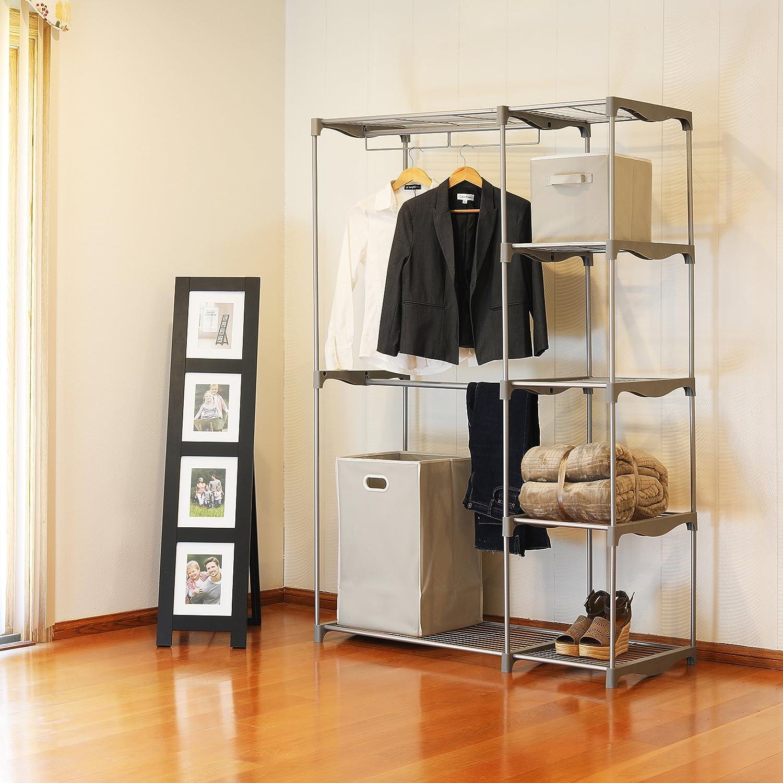 Amazon.com: Simple Houseware - Armario con barra doble: Home ...