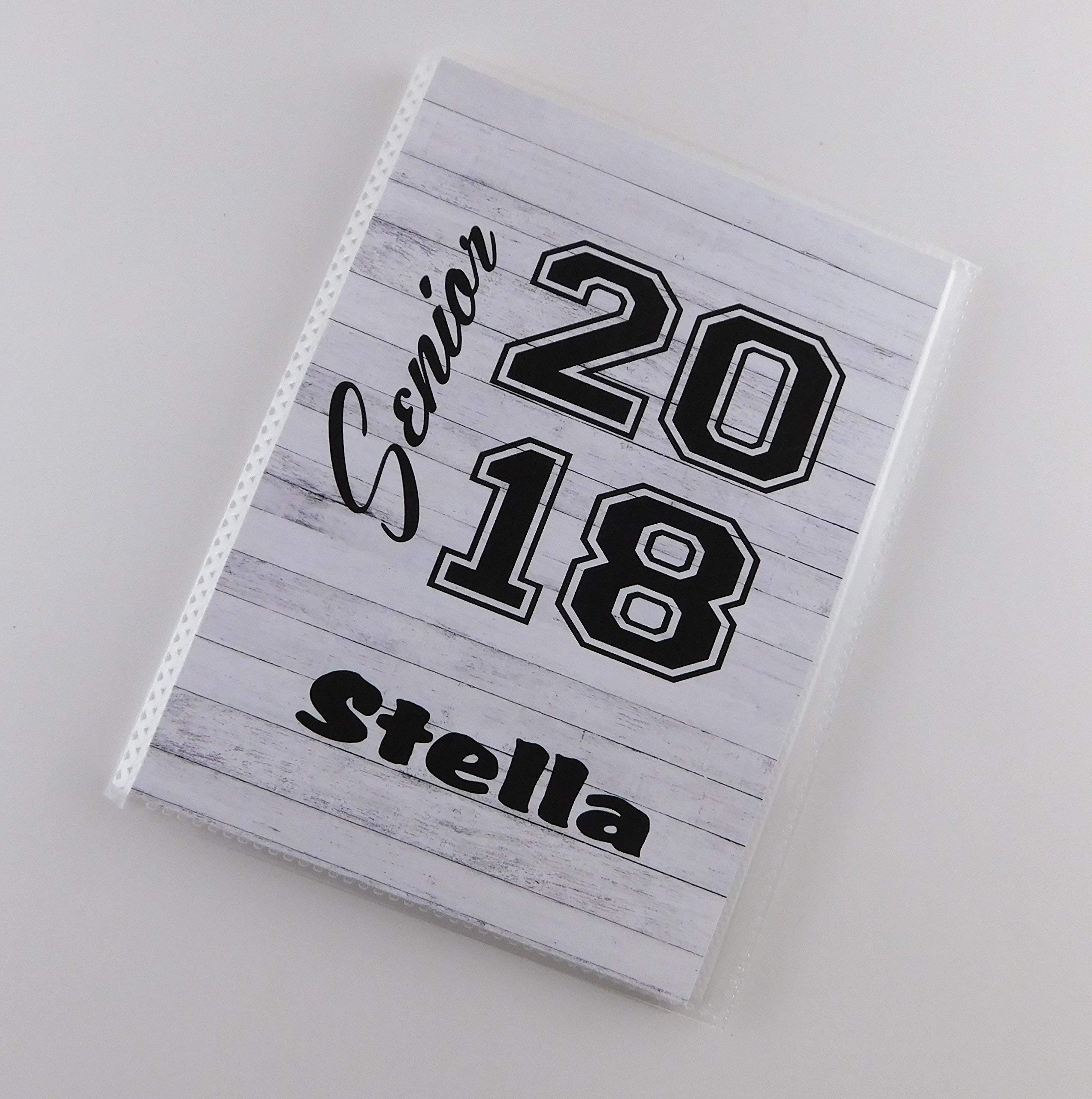 Graduation Gift 2018 2019 IA#880 Senior Photo Album 5x7 or 4x6 Pictures High School Class Personalized with Name Parent Brag Book NOT REAL WOOD