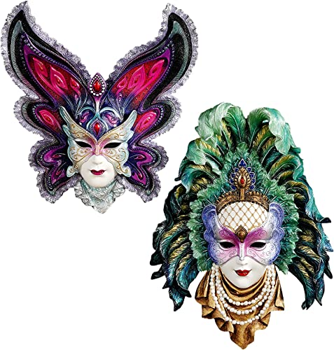 Design Toscano WU975073 Inc Maidens of Mardi Gras Wall Mask Sculptures: Butterfly Maid…,Full Color
