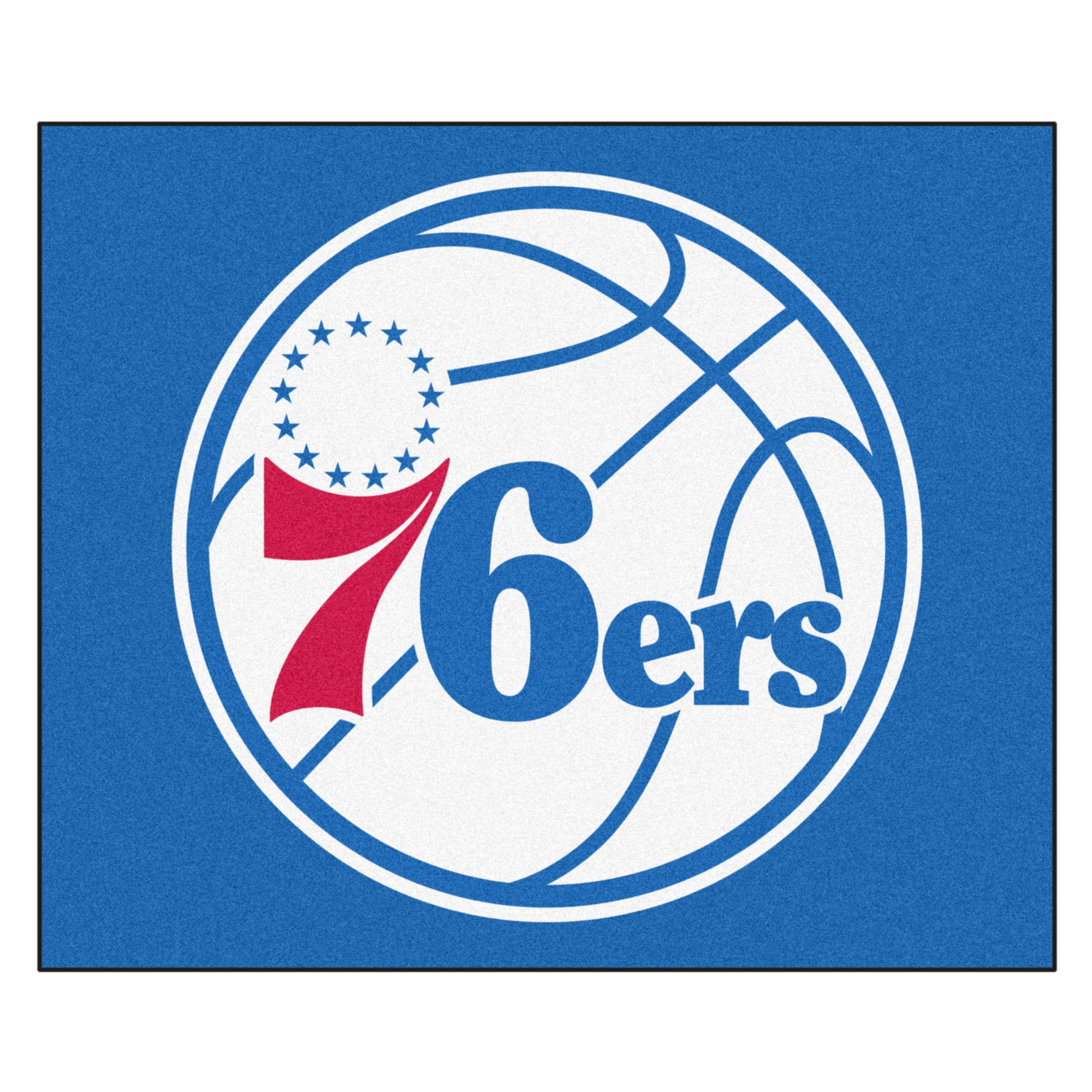 FANMATS 19468 NBA - Philadelphia 76ers Tailgater Rug , Team Color, 59.5''x71'' by Fanmats