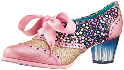 Poetic Licence by Irregular Choice Corporate Beauty, Zapatos de Cordones Brogue para Mujer, Pink (Pink (Pink Multi)), 36 EU