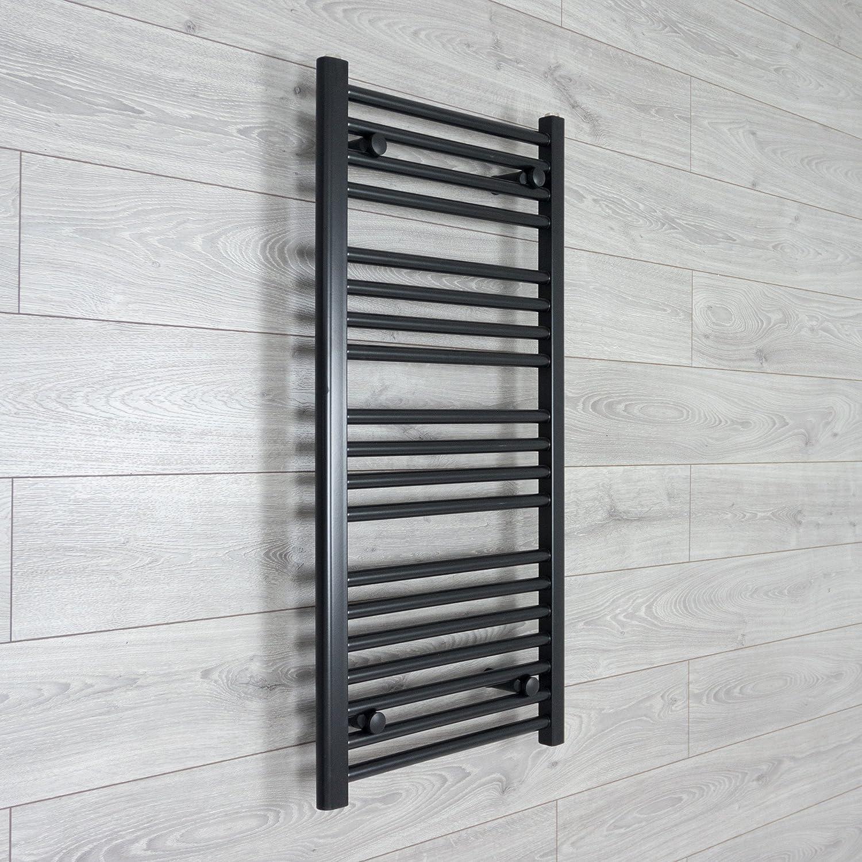 200mm Wide Electric Chrome Heated Towel Rail Radiator Straight Ladder Prefilled