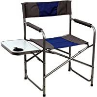 $30 » Portal Compact Steel Frame Folding Director's Chair Portable Camping Chair with Side Table,…