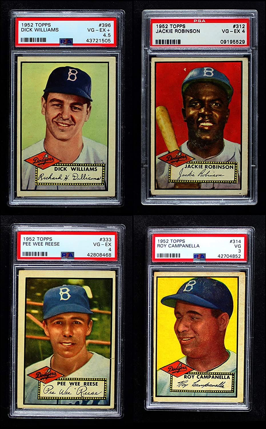1952 Topps Brooklyn Dodgers Team Set Brooklyn Dodgers (Baseball Set) Dean's Cards 4 - VG/EX Dodgers