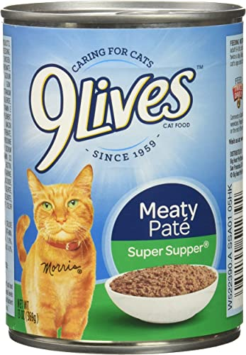 9Lives Meaty Pat Super Supper Wet Cat Food, 13 Oz Cans Pack Of 12