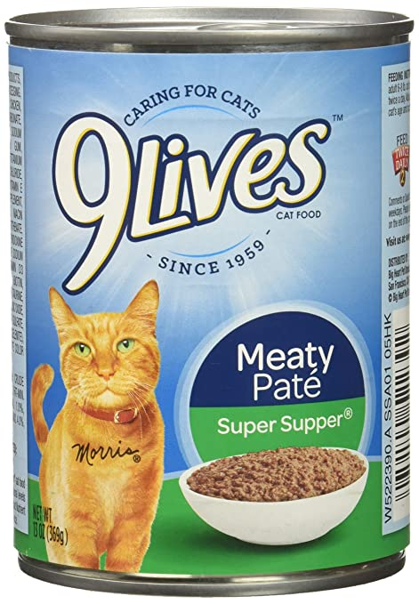 Amazon 9Lives Meaty Pat Super Supper Wet Cat Food 13 Oz Cans