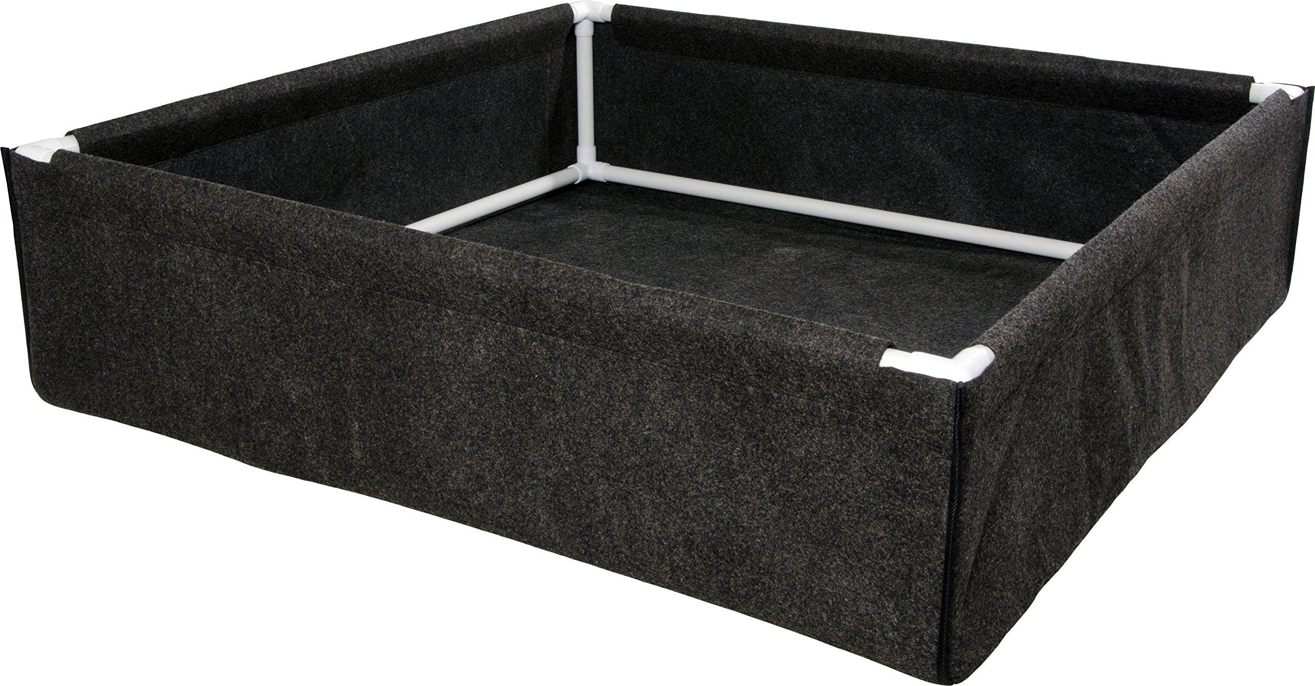 Hydrofarm HGDPB4X4 Dirt Pot Box, 4x4, Black