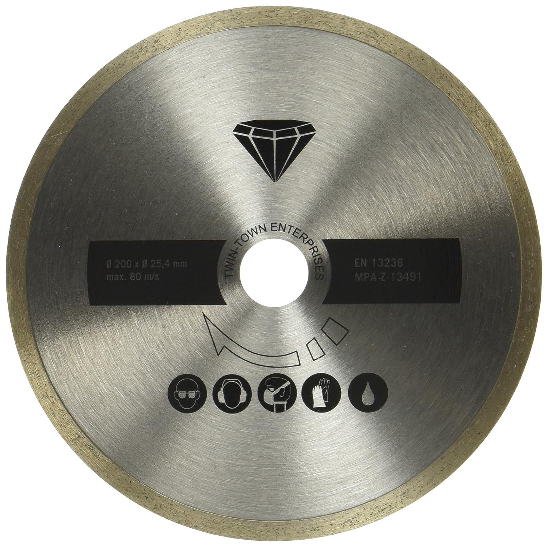 diam/ètre 200/x 25,4/mm ardoise Coupe carrelage marbre Scheppach 7906700705/Disque /à tron/çonner diamant convient pour le FS3600/Coupe-carreaux