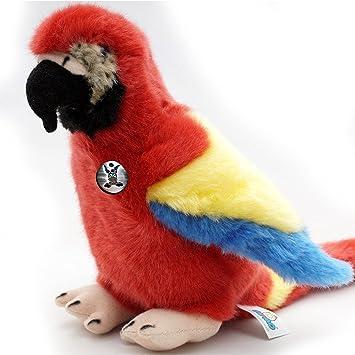 Ara rouge foncé Sissi 28 cm Peluche peluche perroquet ara de ...