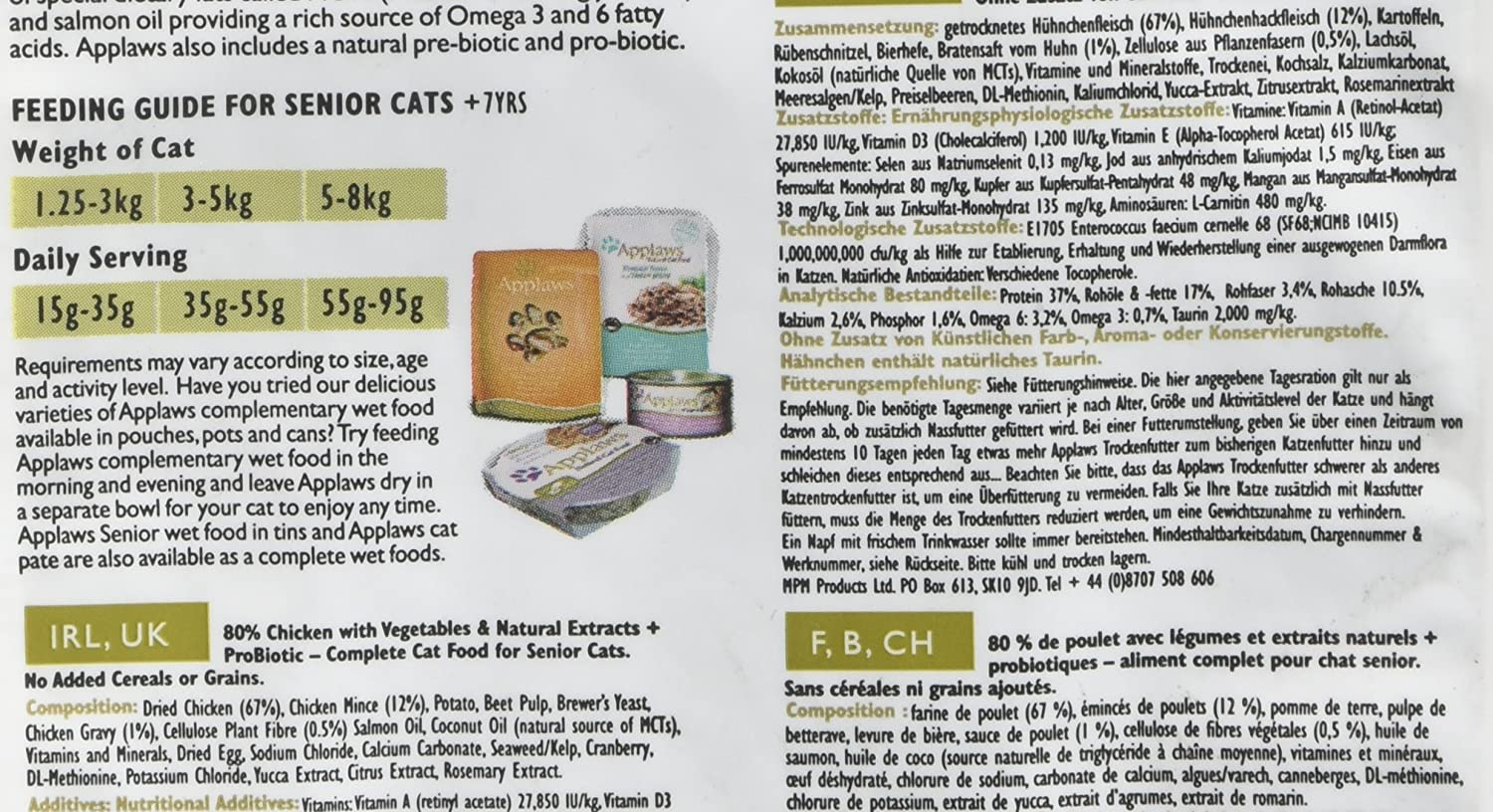 Applaws dry cat food senior 400g amazon pet supplies nvjuhfo Choice Image