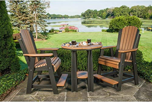 LuxCraft Recycled Plastic Counter Height Adirondack Balcony Set – Lead Time to Ship 4 Weeks