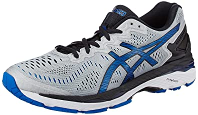 ASICS Men's Gel-Kayano 23 Silver, Imperial and Black Running Shoes - 10 UK