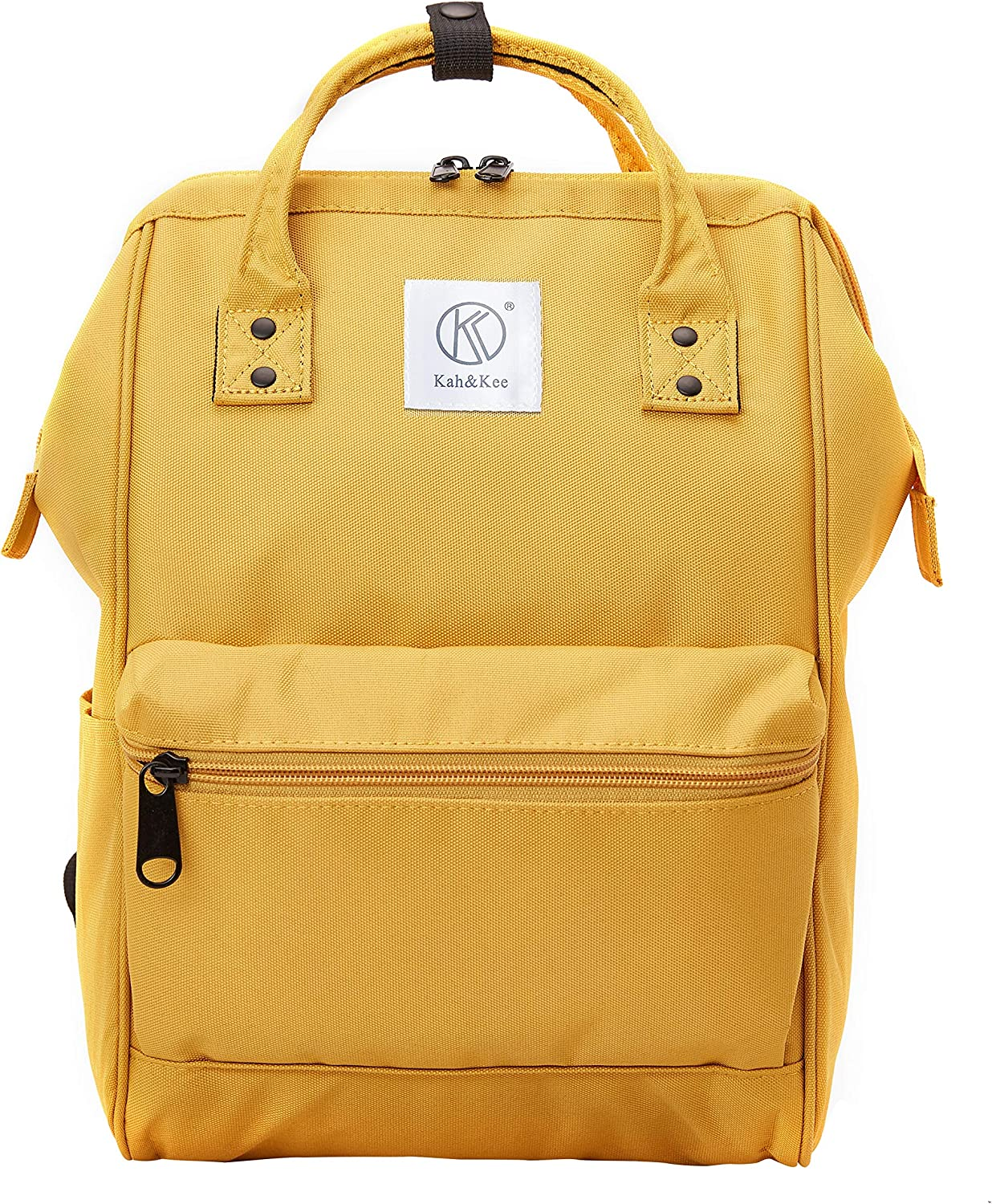 Kah&Kee Polyester Travel Backpack Functional Anti-theft School Laptop for Women Men (Yellow, Small)