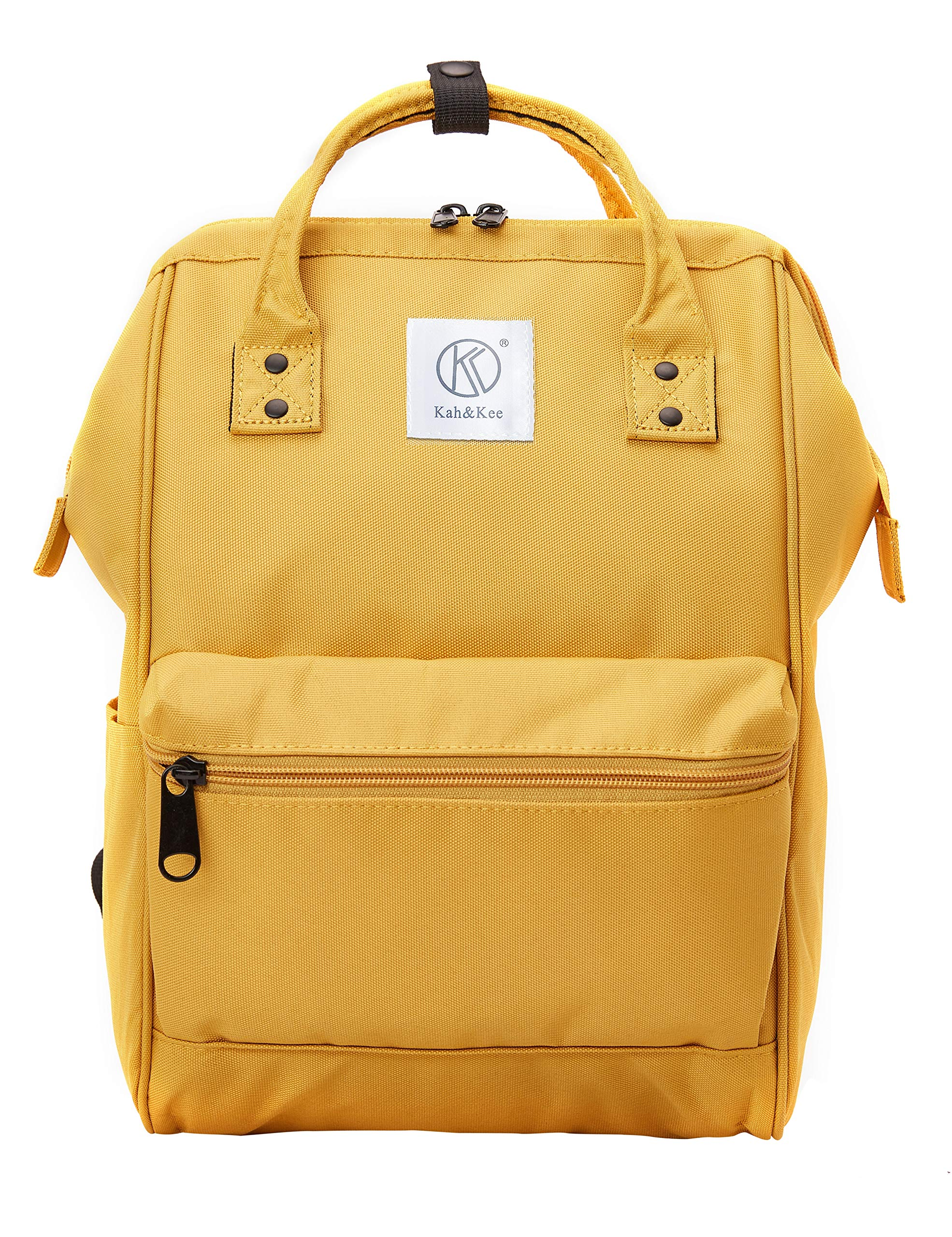 Kah&Kee Polyester Backpack with Laptop Compartment Waterproof Anti-theft Travel School for Women Man (Yellow, Small) by Kah&Kee