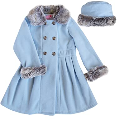 f0508af15f41 Amazon.com  Good Lad Toddler Girls Blue Double Breasted Fleece Coat ...